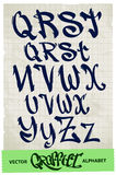 Alfabeto de la pintada Foto de archivo libre de regalías
