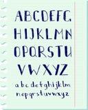 Alfabeto de la pluma Fotos de archivo