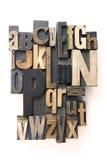 Alfabeto de la prensa de copiar Fotografía de archivo