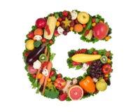 Alfabeto de la salud - G imagen de archivo
