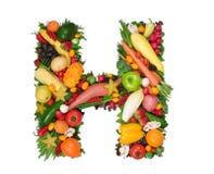 Alfabeto de la salud - H imagenes de archivo