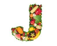 Alfabeto de la salud - J fotografía de archivo libre de regalías