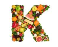 Alfabeto de la salud - K fotos de archivo