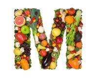 Alfabeto de la salud - M Imágenes de archivo libres de regalías