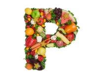 Alfabeto de la salud - P fotos de archivo