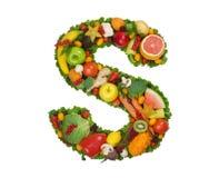 Alfabeto de la salud - S Foto de archivo libre de regalías