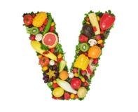 Alfabeto de la salud - V foto de archivo libre de regalías