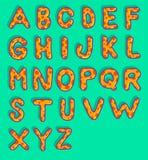 Alfabeto de la seta Foto de archivo libre de regalías