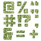 Alfabeto de la textura militar de la tela libre illustration