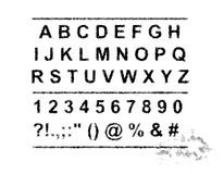 Alfabeto de la tinta Imagen de archivo