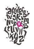 Alfabeto de las letras de la mano Vector Fotos de archivo