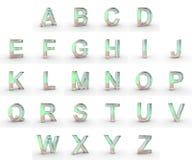 Alfabeto de las mayúsculas del jabón Fotos de archivo libres de regalías