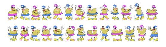Alfabeto de las muchachas de la torsión Fotografía de archivo