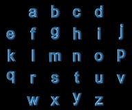 Alfabeto de las pequeñas letras de la radiografía Fotografía de archivo libre de regalías