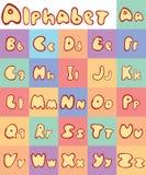 Alfabeto de Leters liso en color Imágenes de archivo libres de regalías