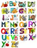 Alfabeto de los cabritos ilustración del vector