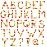 Alfabeto de los caramelos Imagen de archivo libre de regalías