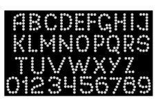 Alfabeto de los diamantes Imagen de archivo