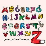 Alfabeto de los niños explicado fotos de archivo
