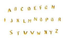 Alfabeto de los tallarines Fotos de archivo