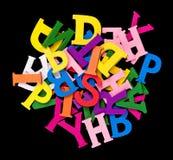 Alfabeto de madeira Imagens de Stock Royalty Free