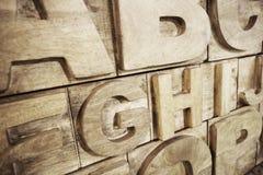 Alfabeto de madeira Imagem de Stock Royalty Free