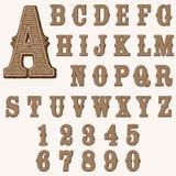 Alfabeto de madeira Foto de Stock