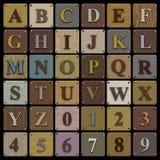 Alfabeto de madeira do bloco ilustração royalty free