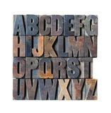 Alfabeto de madera Imagenes de archivo