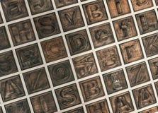 Alfabeto de madera fotografía de archivo