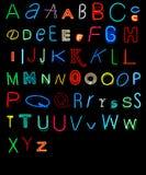Alfabeto de neón Fotos de archivo libres de regalías