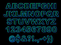Alfabeto de neón intrépido Foto de archivo libre de regalías