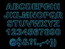 Alfabeto de néon corajoso Foto de Stock Royalty Free