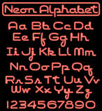 Alfabeto de néon do certificado/eps Fotografia de Stock