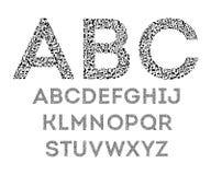 Alfabeto de notas stock de ilustración
