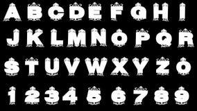 Alfabeto de oro enmarañado alfa del lazo ilustración del vector