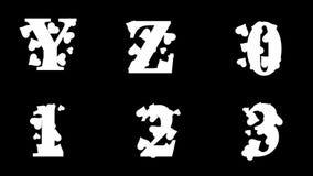 Alfabeto de oro enmarañado alfa del lazo con los corazones ilustración del vector
