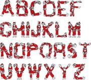 Alfabeto de Papá Noel Fotografía de archivo