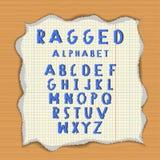 Alfabeto de papel áspero Imagens de Stock Royalty Free