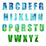 Alfabeto de Pascua Foto de archivo libre de regalías