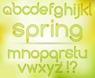 Alfabeto de pascua de la primavera Imágenes de archivo libres de regalías