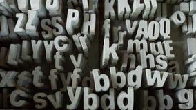 Alfabeto de pedra para decorar a casa Imagem de Stock