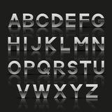 Alfabeto de plata decorativo Foto de archivo