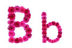 Alfabeto de rosas Imagen de archivo