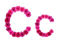 Alfabeto de rosas Imágenes de archivo libres de regalías