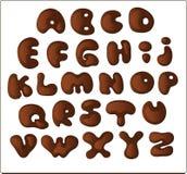 Alfabeto de Shocolate Foto de archivo libre de regalías