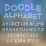 Alfabeto decorativo da garatuja Imagens de Stock Royalty Free