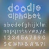 Alfabeto decorativo del garabato Foto de archivo