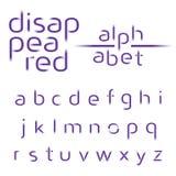 Alfabeto decorativo, linee scomparse fonte di vettore Immagini Stock