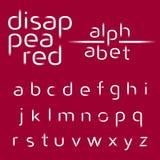 Alfabeto decorativo, linee scomparse fonte di vettore Fotografia Stock